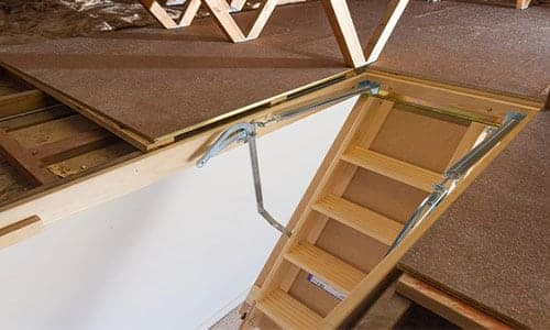 stair ladder to attic by skydome hunter coast