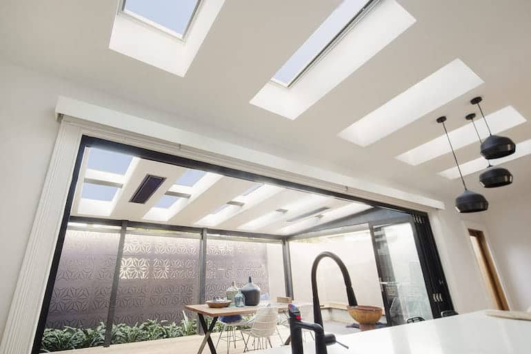 kitchen with velux ceiling by skydome hunter coast