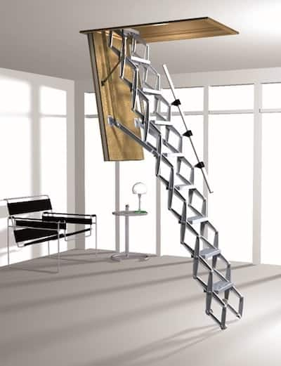aluminum ladder for attic by skydome hunter coast