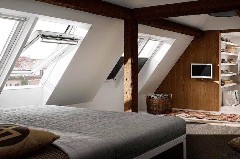 attic room with velux from skydome hunter coast